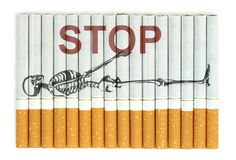 Stop smoking, cigarettes isolated on white background Stock Photography