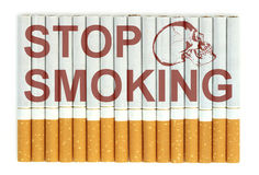 Stop smoking, cigarettes isolated on white background Royalty Free Stock Photo