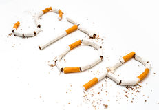 Stop smoking concept. Background made of cigarettes Stock Images
