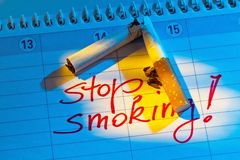 Stop smoking. good resolution in the calendar Stock Images