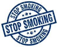 stop smoking stamp royalty free stock image
