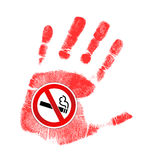Stop smoking illustration design Stock Image