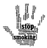 Stop Smoking info-text graphics Royalty Free Stock Photography