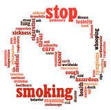 Stop Smoking info-text graphics Royalty Free Stock Image