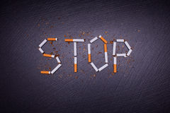 Stop smoking poster Royalty Free Stock Photography