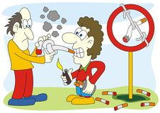 Stop smoking sign illustration Stock Photography