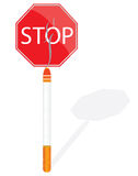 Stop smoking sign vector illustration Royalty Free Stock Photography