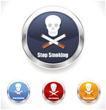 Stop smoking sign on white background with skull Stock Photography