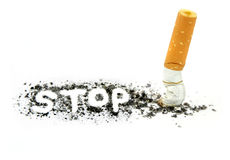 Stop smoking. On white background Stock Photo