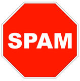 Stop spam Stock Image