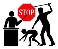 Stop spanking at school Royalty Free Stock Photo