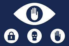 Stop spying vector icon Royalty Free Stock Photography