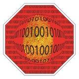 Stop spyware Stock Image
