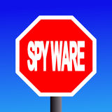 Stop spyware sign Royalty Free Stock Photography