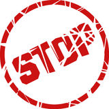 Stop stamp. Aviable in vector format Stock Photography