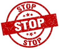 Stop stamp Stock Photography