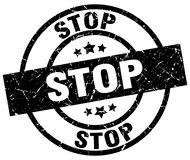 Stop stamp Royalty Free Stock Images