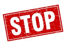 Stop stamp Stock Images