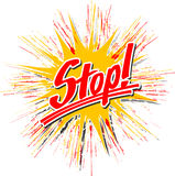 Stop_star_hs Image libre de droits