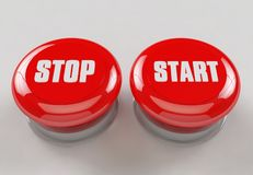 Stop Start Stock Image