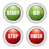 Stop start button stock illustration