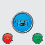 Stop start buttons Stock Image