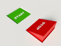 Stop and start buttons Royalty Free Stock Image