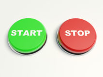 Stop and start buttons Royalty Free Stock Photography
