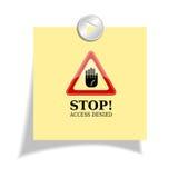 Stop sticker Stock Photos