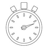 Stop stopwatch icon, outline style. Stop stopwatch icon. Outline illustration of stop stopwatch vector icon for web Royalty Free Stock Photos