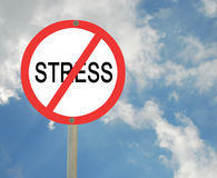 Stop stress stock image
