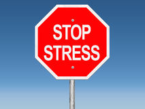 Stop Stress Road Sign Stock Image