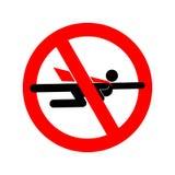 Stop super hero. Forbidden superhero. Road sign prohibiting road. Symbol. Ban of superpower Stock Images