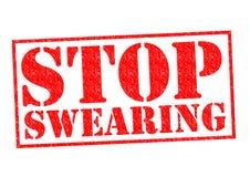 STOP SWEARING Stock Image