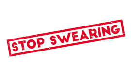 Stop Swearing rubber stamp Royalty Free Stock Images