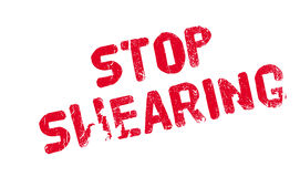 Stop Swearing rubber stamp Stock Image
