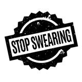 Stop Swearing rubber stamp Stock Photos