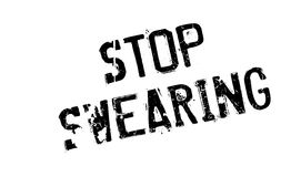 Stop Swearing rubber stamp Royalty Free Stock Image