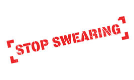 Stop Swearing rubber stamp Stock Photo