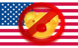 Stop Swine flu Stock Photo