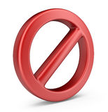 Stop symbol. 3D Icon isolated Royalty Free Stock Photo