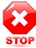 Stop symbol Stock Photography