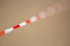 Stop the tape with red and white stripes. Royalty Free Stock Images