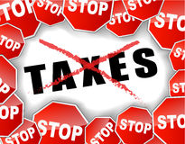 Stop taxes. Vector illustration of stop taxes background Stock Image