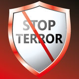 Stop terror icon. Vector illustration Stock Photo