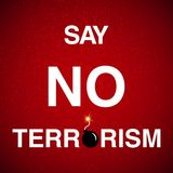 Stop terrorism background. Illustration with stop terrorism lettering background Stock Photo