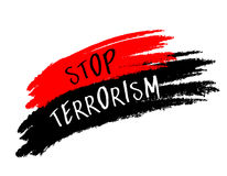 Stop terrorism paint. Royalty Free Stock Photo