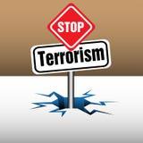Stop terrorism plate Stock Photo