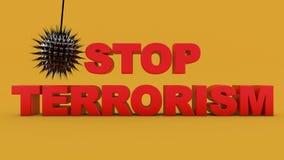 Stop terrorism text Royalty Free Stock Photos