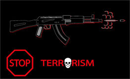 Stop Terrorism Royalty Free Stock Photos